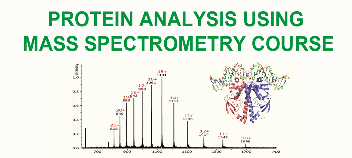 protein analysis using mass spectrometry course